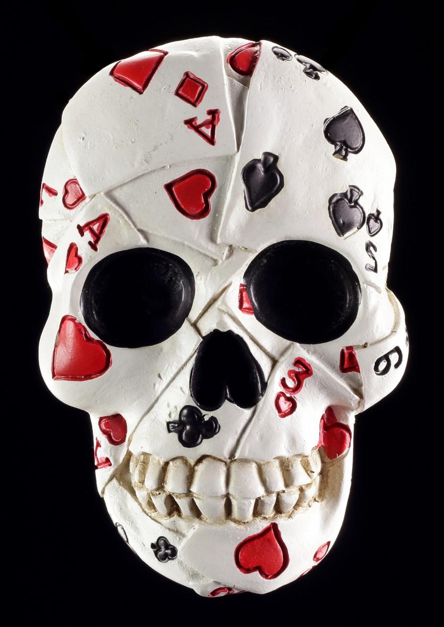 Fridge Magnet - Bottle Opener Poker Skull