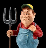 Funny Jobs Figurine - Farmer with Pitchfork