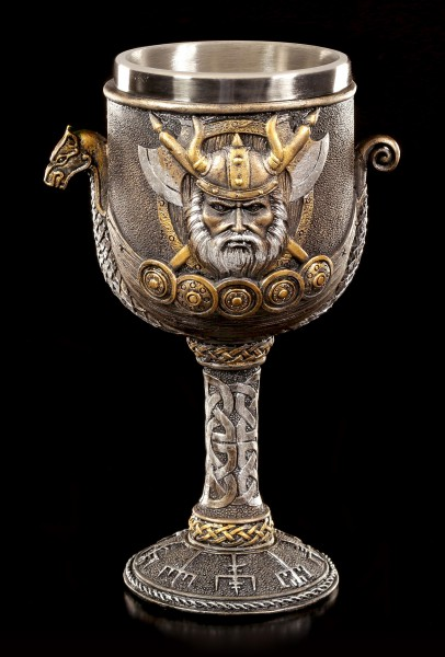 Goblet - Viking with Ship