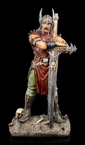 Viking Warrior Figurine with Sword