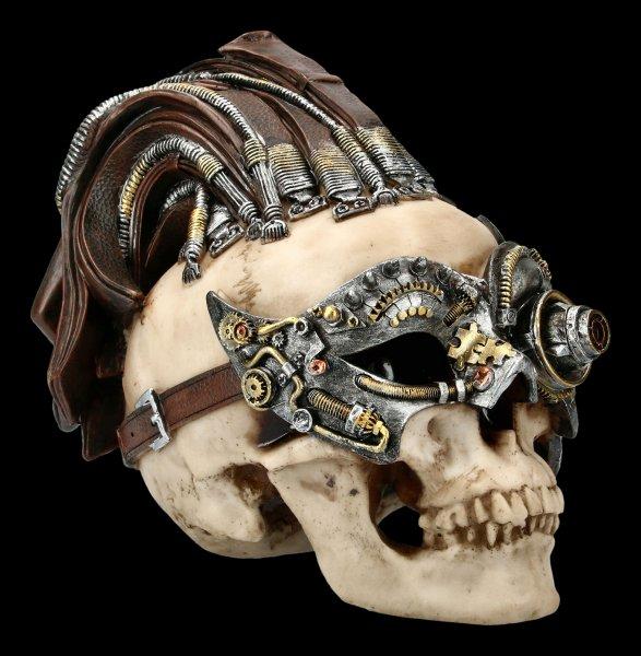 Steampunk Skull - Dreadlock Device large