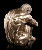 Männliche Akt Figur - Am Boden sitzend - groß