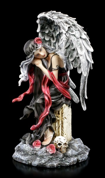 Engel Figur - Dark Weeping Angel on Grave
