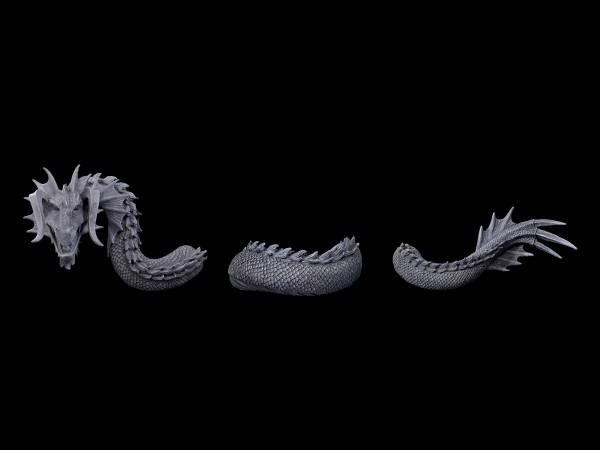 Dragon Wall Ornament - 3 Parts