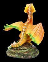 Dragon Figurine - Orange by Stanley Morrison