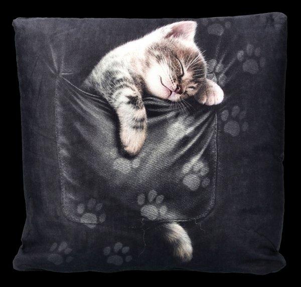 Spiral Gothic Cushion - Pocket Kitten