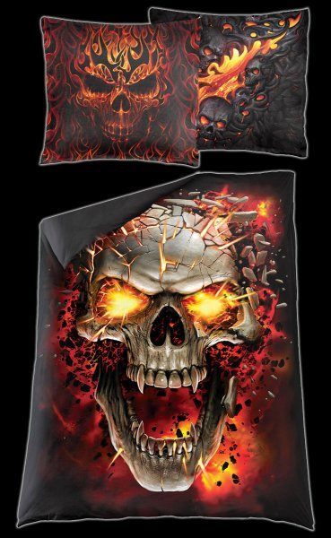 Skull Blast - Single Duvet Cover with Pillow Case