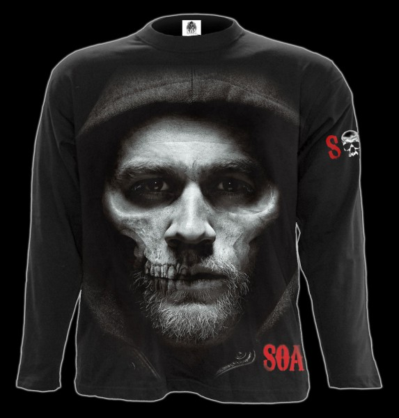Sons of Anarchy Langarmshirt - Jax Totenkopf