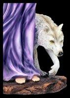 Elfen Figur mit Wolf und Eule - Amethyst Companions