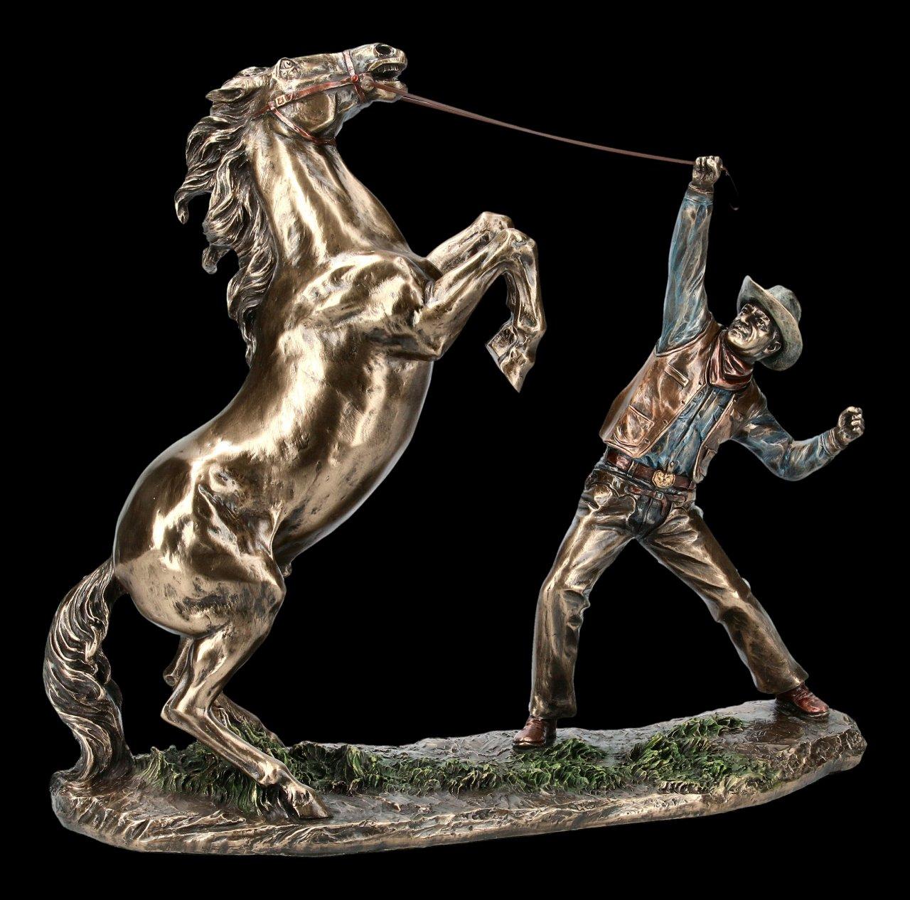 Cowboy Figurine - Wild Mustang