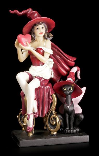 Hexen Figur mit Katze - Valentine Witch