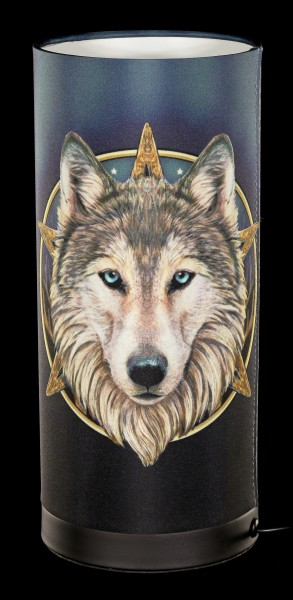 Tischlampe mit Wolf - Wild One