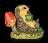 Funny Hedgehog Figurine with Lucky Charms - Good Luck