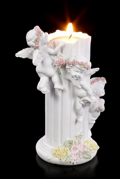 Angel Tealight Holder - Three little Cherubs