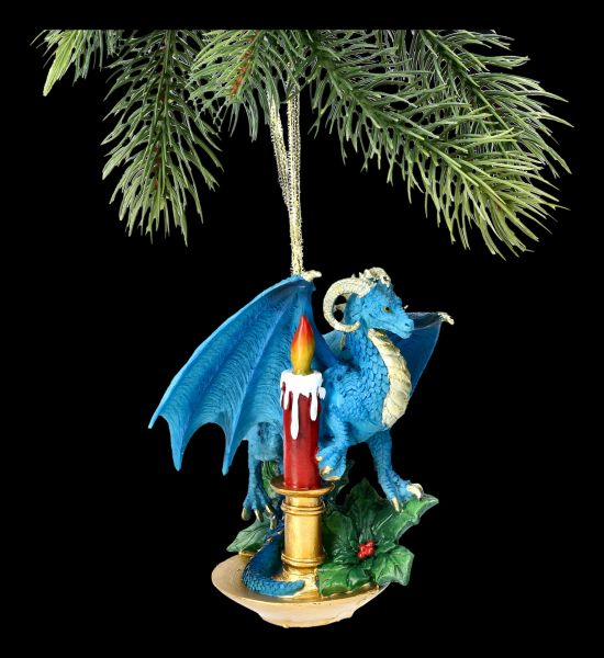 Christmas Tree Decoration - Dragon with Candle