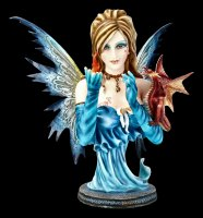 Fire Fairy Bust with Dragon