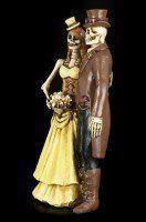 Skelett Brautpaar Figur - Steampunk - I Do