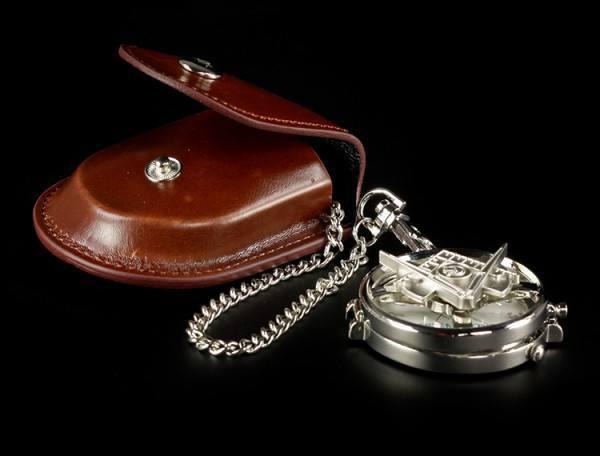 Taschenuhr - Freimaurer Kompass Symbol
