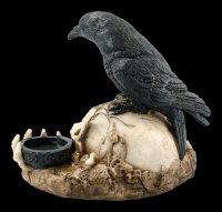 Tealight Holder - Raven on Skull