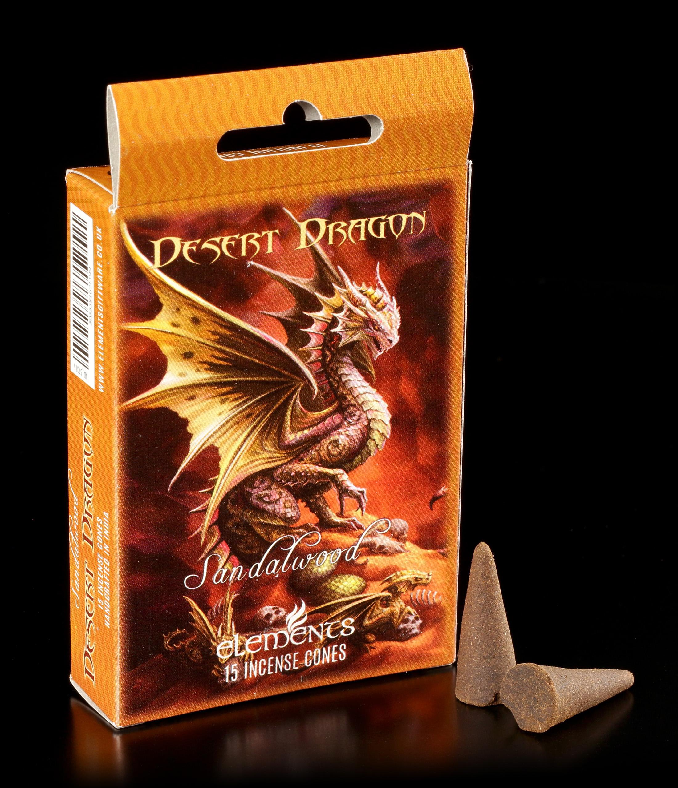 Anne Stokes Duft Aroma Räucherkegel Weihrauch /& Myrrhe Rock Dragon