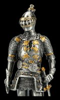 German Pewter Knight Figurine with Sword