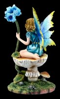 Fairy Figurine - Ilina sitting on Mushroom