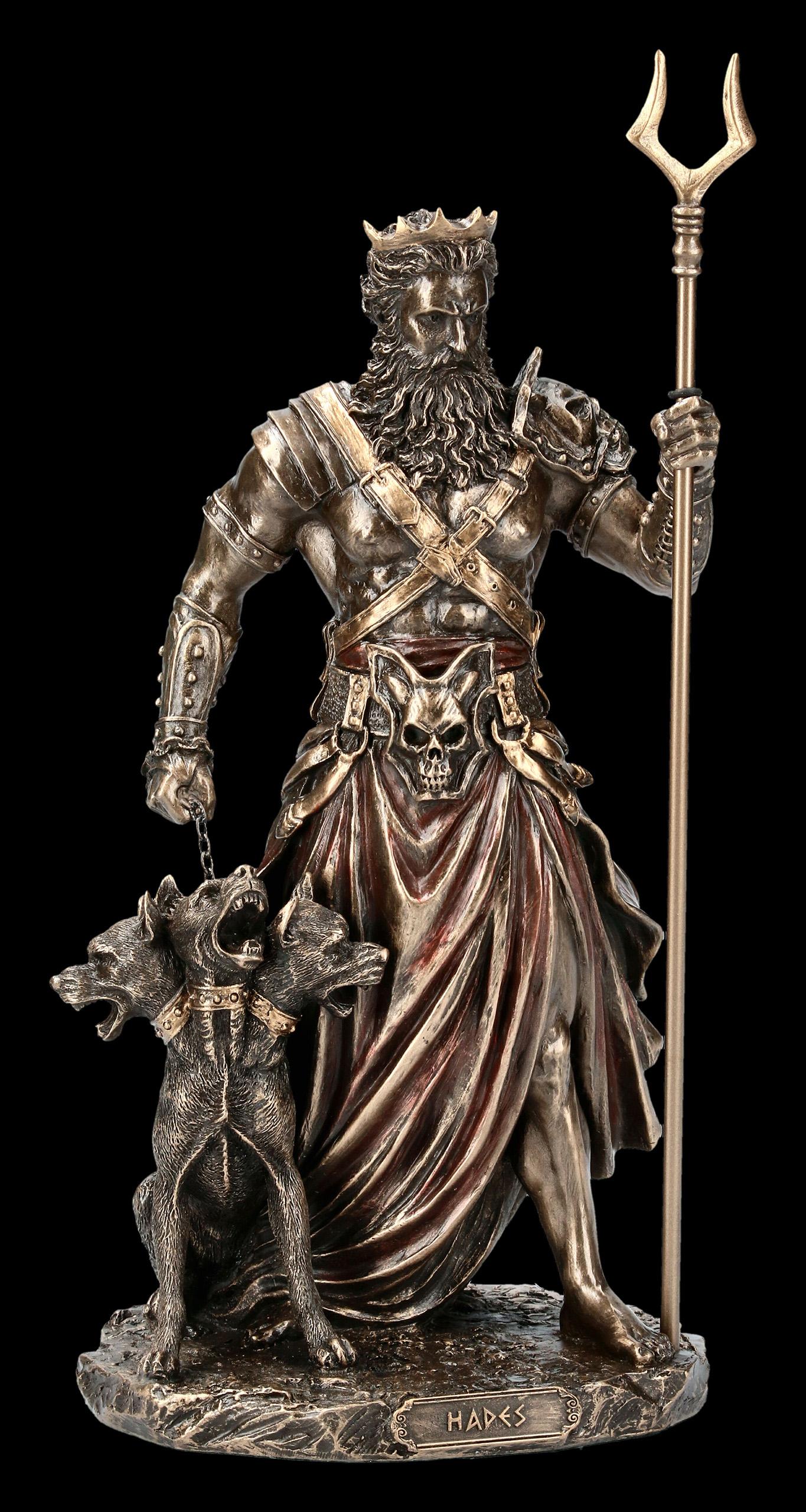 Hades Figurine God Of Death With Cerberus Veronese Www Figuren Shop De