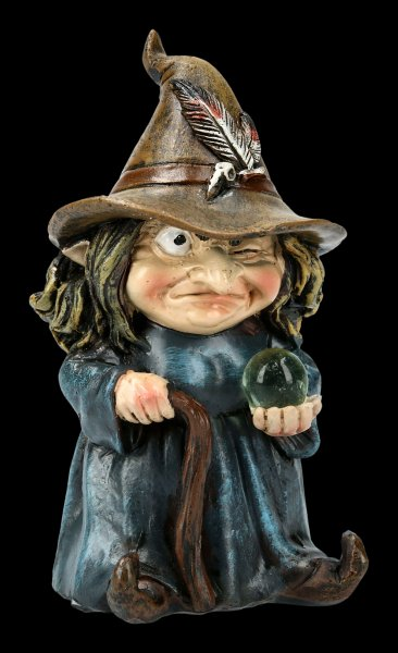 Funny Witch Figurine - Trouble