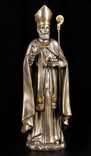 Vorschau: Nikolaus von Myra Figur - bronziert