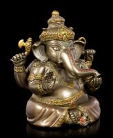 Buddha Figur - Ganesha - bronziert