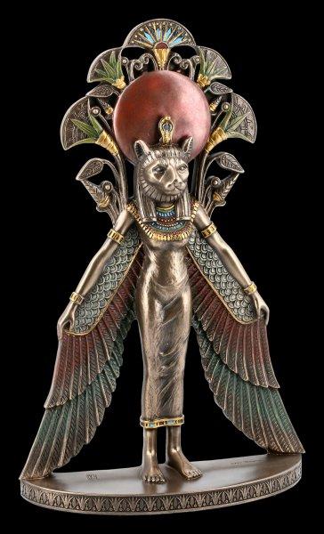 Wandrelief - Mut-Sachmet Figur mit Flügeln