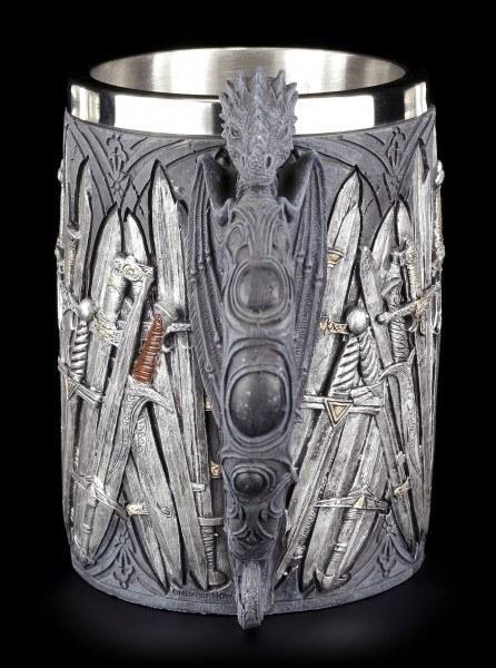 Ritter Krug -mit Schwertern und Drachengriff