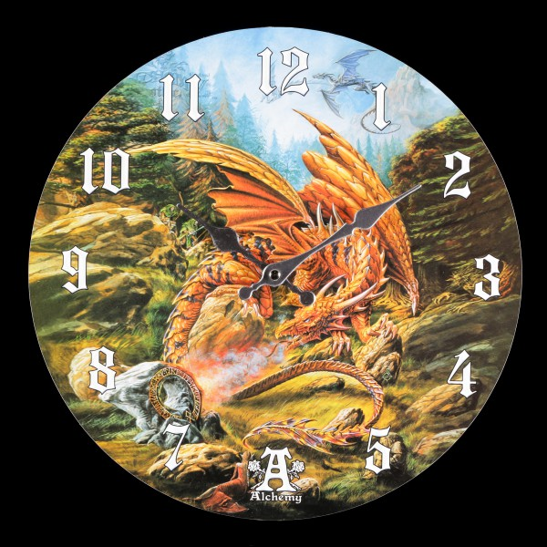 Wanduhr mit Drache - Dragons of the Runering