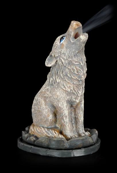 Incense Cone Burner - Wolf Howling
