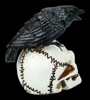 Alchemy Raven on Skull - small