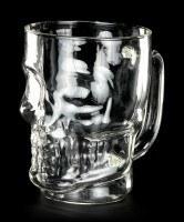Totenkopf Glaskrug