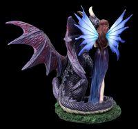Fairy Figurine - Dracana with large Dragon