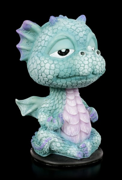 Blauer Drache - Wackelkopf Figur