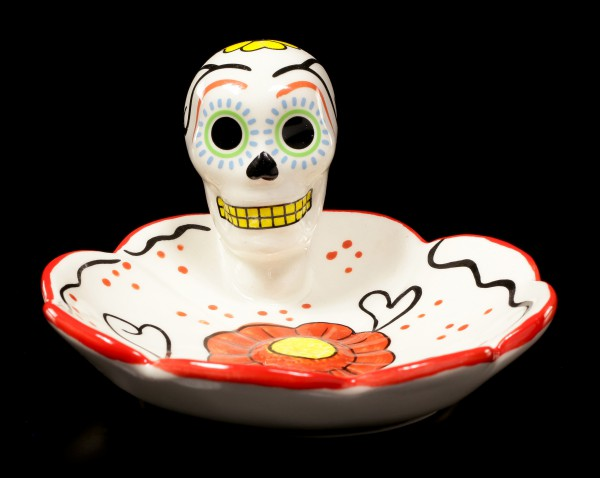 Skull Dish - Day of the Dead - red