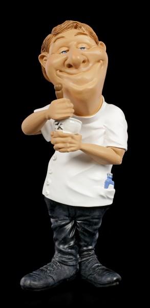 Funny Job Figurine - Pharmacist with Mortar