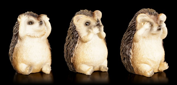 Hedgehog Figurines - No Evil...