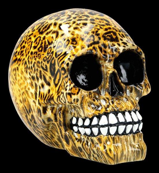 Totenkopf mit Leoparden Muster - Wild - medium