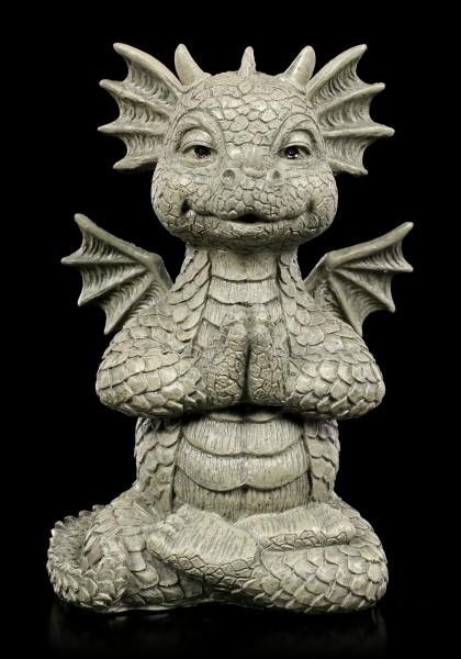 Small Garden Figurine - Lucky Dragon Yoga