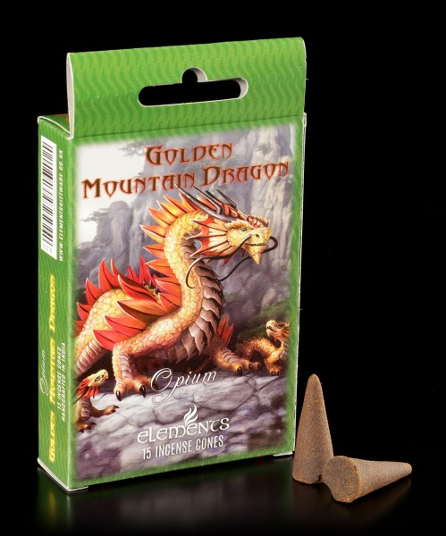 Räucherkegel Opium - Golden Mountain Dragon