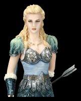 Skadi Figur mit Wölfen - Nordische Winter Göttin