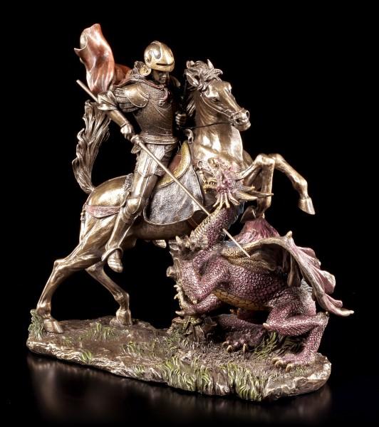 St. Georg Figur - Der Drachentöter