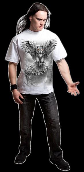 T-Shirt Eule Weiß - Wings Of Wisdom