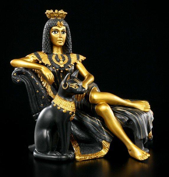 Kleopatra Figur mit Bastet