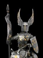 Ritter Figur auf Pferd mit Flügelhelm