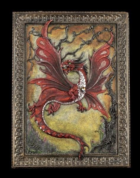 Wandrelief - Großes Drachen Gemälde